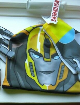 NEW Transformers BUMBLEBEE WINTER FALL Beanie Hat & Gloves Set