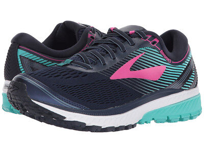 Women's Brooks Ghost 10 Running Training Shoes Navy/Pink/Teal Green--New in Box-