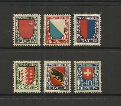 Switzerland ~ 1920-21 Pro Juventute Children Charity Stamps (Mint Mh)