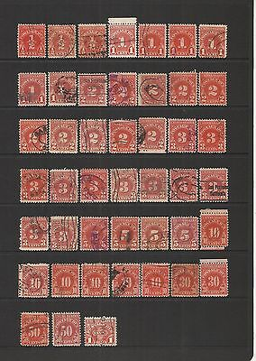 U.s.a. Postage Due ~  1930-58 (Part Set) Accumulation B.o.b.
