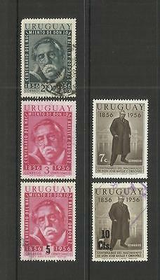 URUGUAY~ 1956-57 PRES. JOSE BATLLE y ORDONEZ BIRTH CENTENARY (PART SETS)