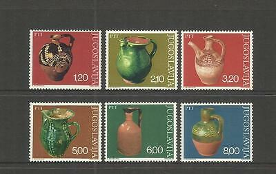 Jugoslavija Yugoslavia ~ 1976 Ancient Pottery Jugs (Mint Mh Set)
