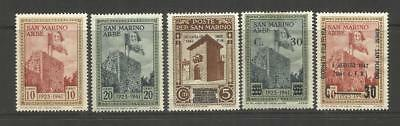 San Marino Italy ~ Small Mint Collection (Mnh) 4 Stock Pages