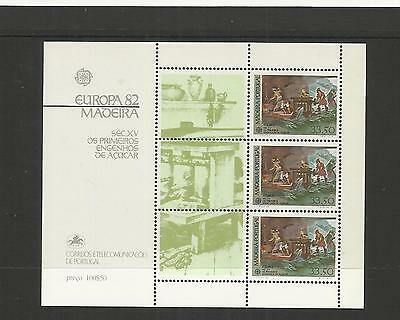 Madeira Portugal ~ 1982 Europa & 1988 Europa Mini Sheets (Mint Mnh)