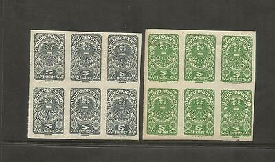 Austria Osterreich ~ 1919+ Republic Definitive Blocks (Mint Mnh) Part Set