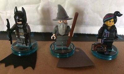 Lego Dimensions Batman Wildstyle Gandalf Game Tags Plus Minifigures. New