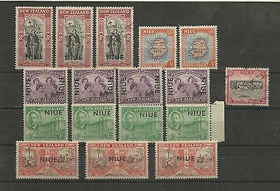 Niue (N.z.) ~ 1946-50 Overprints (Small Accumulation) Victory
