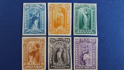 U.S.A Rarely Seen Lot of 6 Old Mint Proof Card Stamps as Per Photos. Bargain