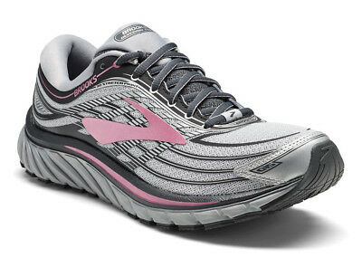 Women's Brooks Glycerin 15 Running Training Shoes Silver/Grey/Rose--New in Box--
