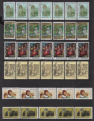 AUSTRALIA mixed collection, early decimal Christmas, No.1, used