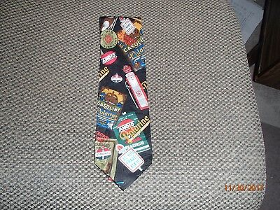Amoco Oil Company Tie-100% Silk-Licensed Advertising by Anheuser Marketing