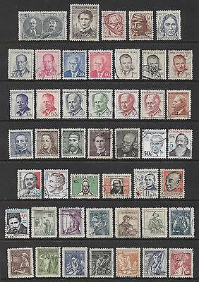 CZECHOSLOVAKIA - mixed collection No.29, Famous People, Occupations