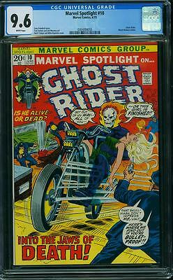 MARVEL SPOTLIGHT #10 CGC 9.6 Ghost Rider app! White Pages!