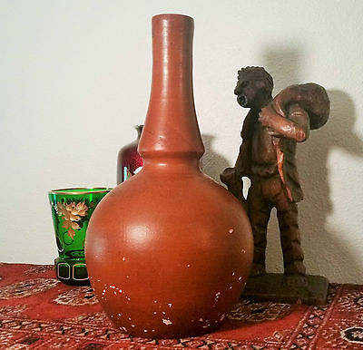 1800s antique utility kitchen terra cotta vtg english french pottery clay bottle