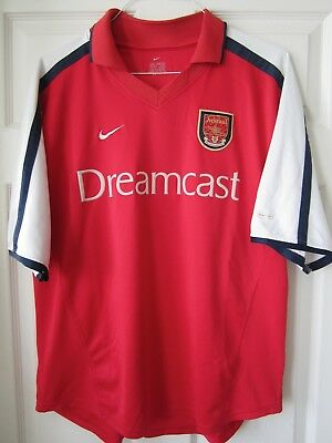 on sale fd74a 3fabc NIKE 2000 2001 2002 Arsenal Home Soccer Jersey Football Shirt Dreamcast  Henry L