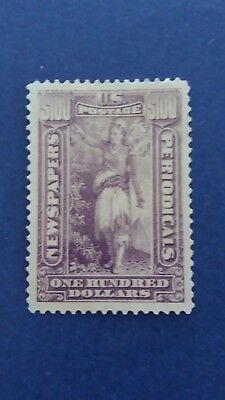 U.S.A Great Rare $100 Mint Stamp (No Watermark Type) as Per Photos. CV $5.400.00