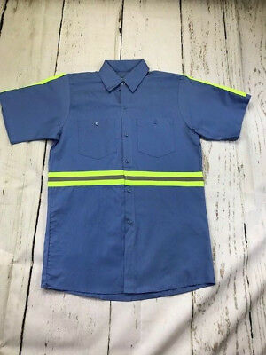 Hi Vis Reflective Shirts Safety Towing  Work Uniform 100% Cotton Short Sleeve