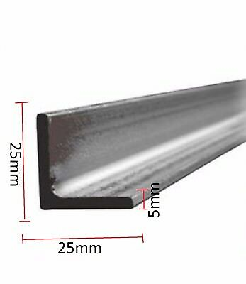 25mm x 25mm 5mm Angle Iron Mild Steel ANY ANGLE  Various Lengths available