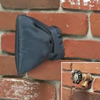 2Pcs Outdoor Faucet Cover, Faucet Socks for Freeze Protection 18x 15cm Gray