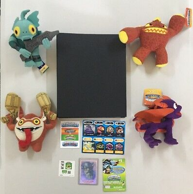 Skylanders # Card Collection & 4 Plushies - Foil Master Eon Limited Edition - JS
