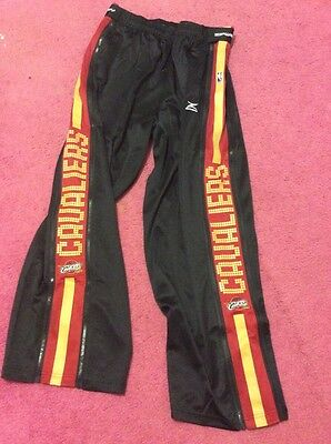 mens NBA zipway Tear Away sweat track pants cleveland cavaliers xxl