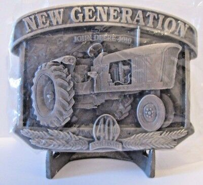 *John Deere 4010 Tractor Pewter Belt Buckle 40th Anniversary 2000 Ltd Ed 1/2500