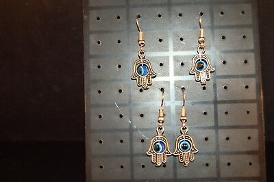 Lot of 2 Pairs  HAMSA EARRINGS  Brand New!  ROTATING EYES  Jewelry  USA SELLER!