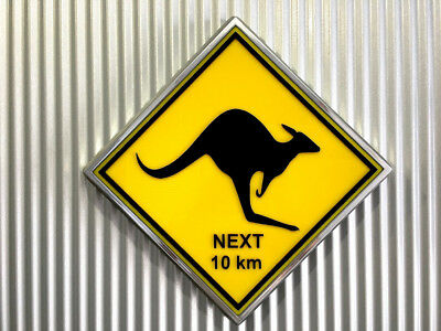 Kangaroo Light Up Aussie Road Sign Retro finished in old chrome led ALL NEW !!!