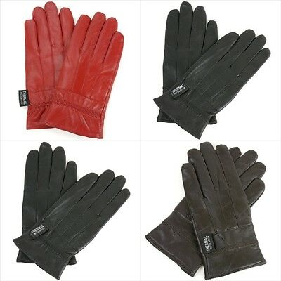 Alpine Swiss Women Touch Screen Gloves Leather Phone Texting Thermal Warm S-2XL