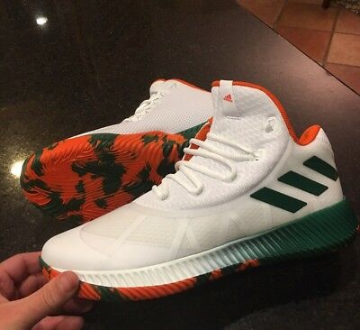 78d026bdf NWT Adidas UM University of Miami Hurricanes Crazy Boost PE - BY3354 -  SZ-13.5