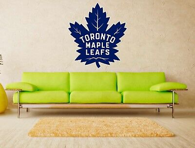 Toronto Maple Leafs NHL Logo Vinyl Wall Decal Sticker Home Decor