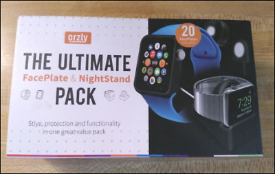 Orzly Ultimate 20 Face Plates Pack for Apple Watch 42mm & Nightstand