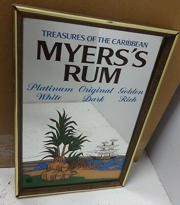 Myers's Rum Mirror Sign LOOK Jamaica myers