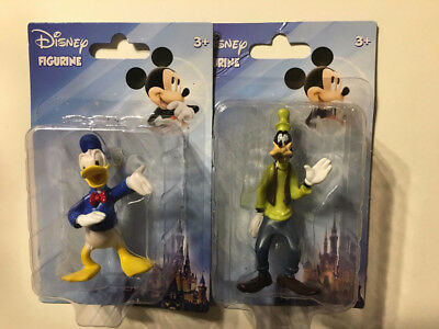 """""""new"""" Goofy And Donald Duck Pvc Collectible Disney Figurine 3"""" High Toy Set"""