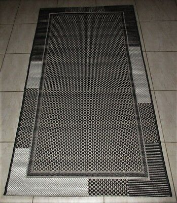 New Black Modern Floor Hallway Runner Rug 80X150Cm