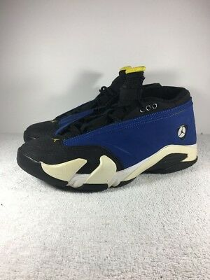 0e4c13d820c Nike Air Jordan 14 Retro Low Laney 807511 405 Size 9 Game Royal Blue
