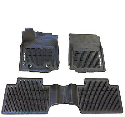 2016 2017 Toyota Tacoma 3pc Oem All Weather Floor Liners