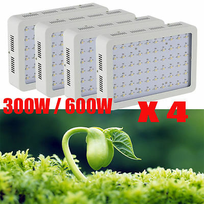 300W LED Grow Light Hydro Full Spectrum Hydroponic Indoor Veg Bloom Plant LOT