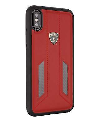 Lamborghini Huracan-D6 Leather Back Cover Case for iPhone X (Red)