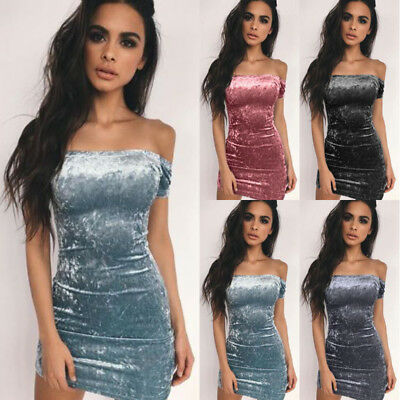 New Women Sexy Bodycon Short Sleeve Evening Party Cocktail Clubwear Mini Dress