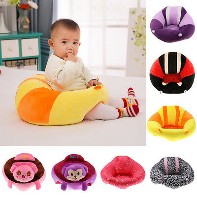 Kids Baby Support Seat Soft Cushion Sofa Plush Toys Children's Round Chair Seat