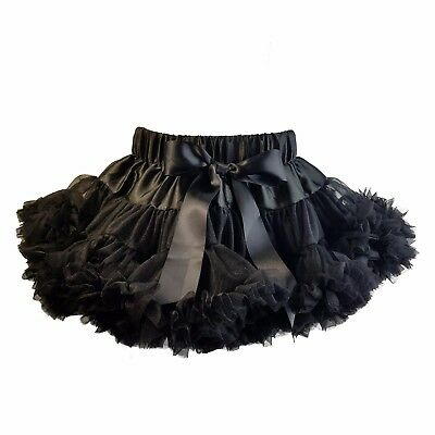 Metallimonsters Black ruffle tutu skirt girls baby goth punk rock metal dance