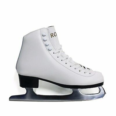 Concept Roma Ice Skates White Leather figure skating lace up - CLEARANCE OFFER