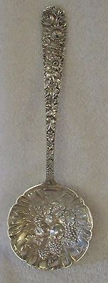 Repousse Rose Kirk sterling silver berry spoon