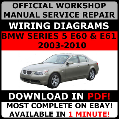 Bmw tis wds etk epc oem service shop repair manual set official workshop service repair manual for bmw series 5 e60 e61 2003 2010 freerunsca Image collections