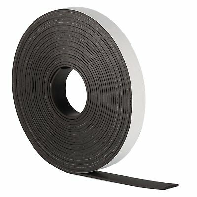 SELF ADHESIVE MAGNETIC TAPE STRIP FLEXIBLE FRIDGE/CRAFT 30m x 12.7mm *STRONG*