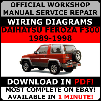 official workshop manual service repair daihatsu feroza f300 1989 Simple Wiring Diagrams official workshop service repair manual for daihatsu feroza f300 1989 1998