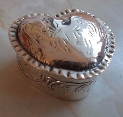 Antique Sterling Silver Box, Hallmarked London 1897 By Edwin Thompson Bryant