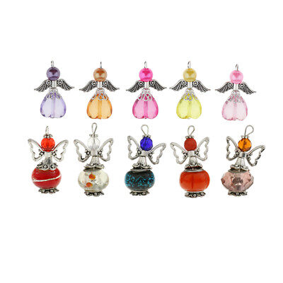 10x Mixed Charms Dancing Angel Butterfly Wings Beads for DIY Jewelry Pendant