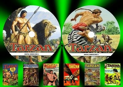 Tarzan Comic Collections On Two DVD Rom's